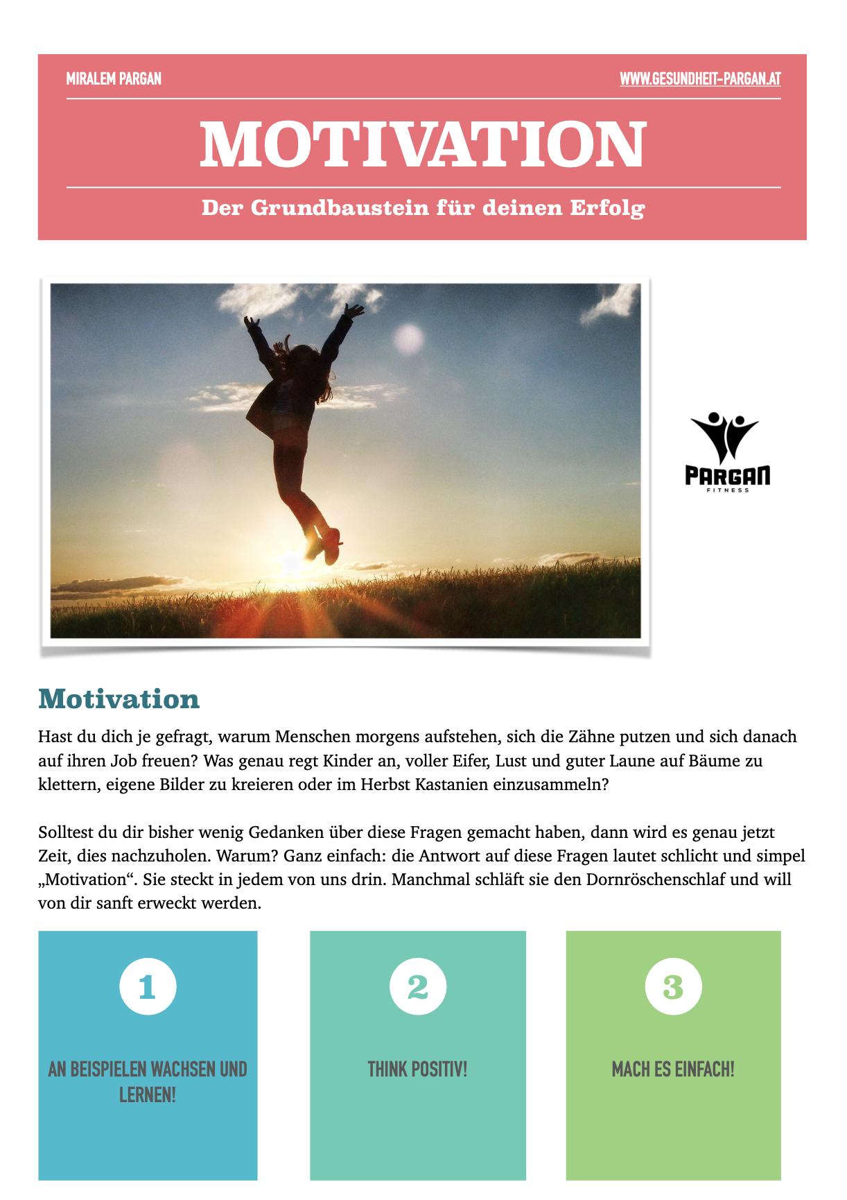 Motivation - Der Grundbaustein!